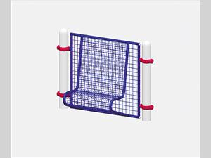 1694-13 Kid's Bench Woven Wire Wall,