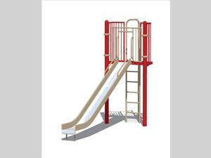 Slide Chute, Stainless Steel with 6