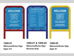 Welcome/Rules Signs