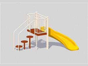 A2Z Play 3042-118 Curved Slide Chute